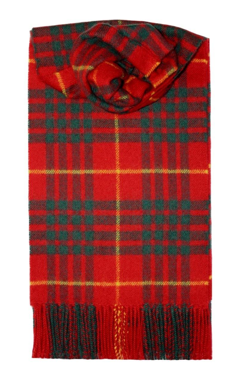Cameron Clan Tartan Scarf Modern Lambswool