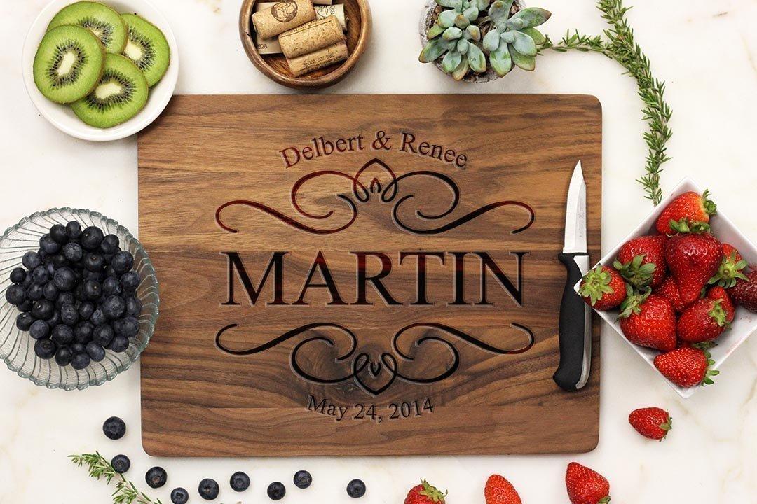 Personalized Cutting Board - Elegant Design