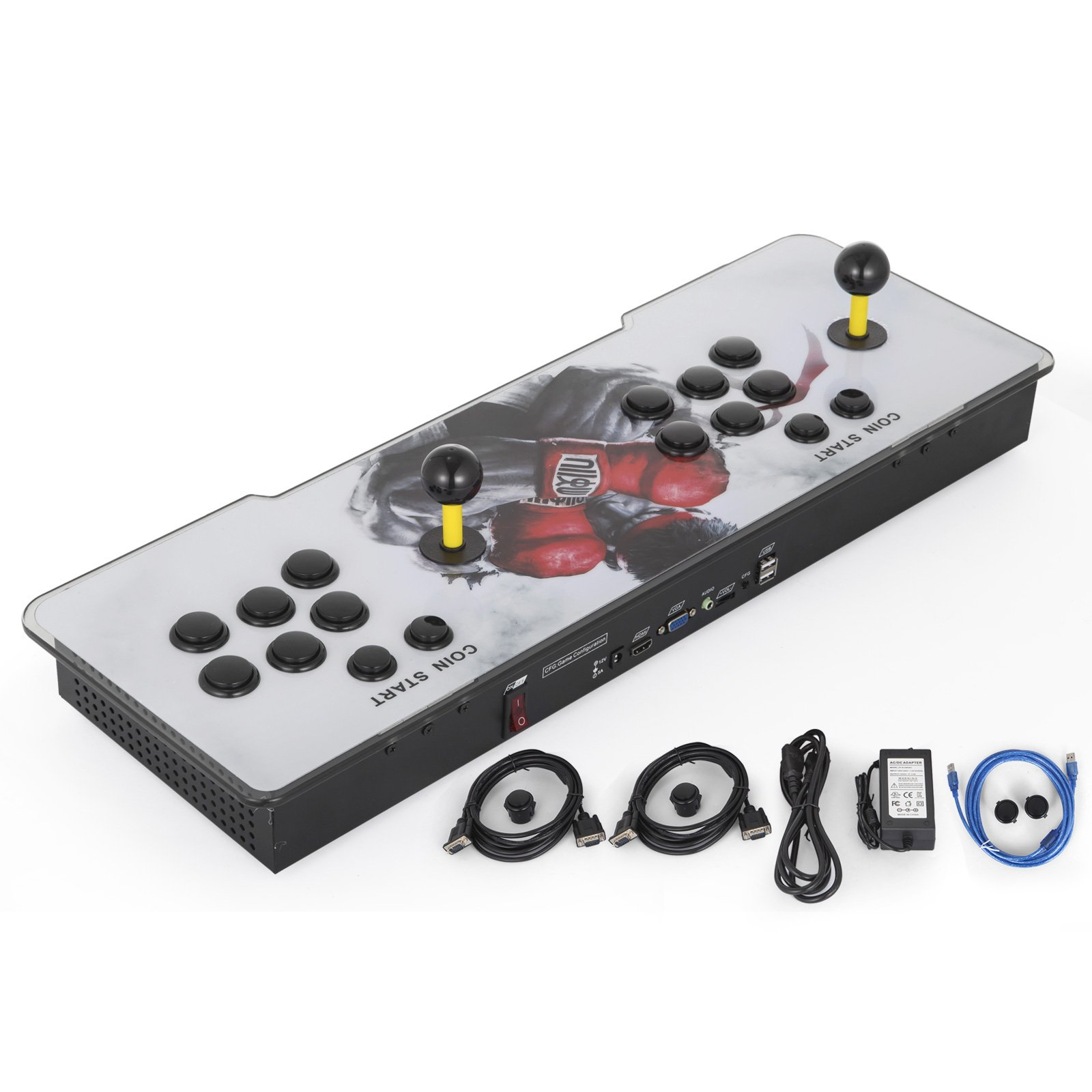 Happybuy Video Game Console, Arcade Machine Over 1500 Latest Classic Games, 2 Players Pandora's Box 9S Multiplayer Home Arcade Console Games All in 1 Non-Jamma PCB Double Stick Newest Design Power HDM by Happybuy (Image #3)