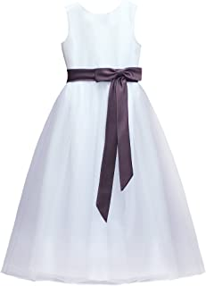 Lovely A-line principessa Flower Girl Dress Junior Bridesmaids Dress-FG0601