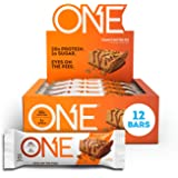 ONE Protein Bars, Peanut Butter Pie, Gluten Free Protein Bars with 20g Protein and only 1g Sugar, Guilt-Free Snacking for Hig