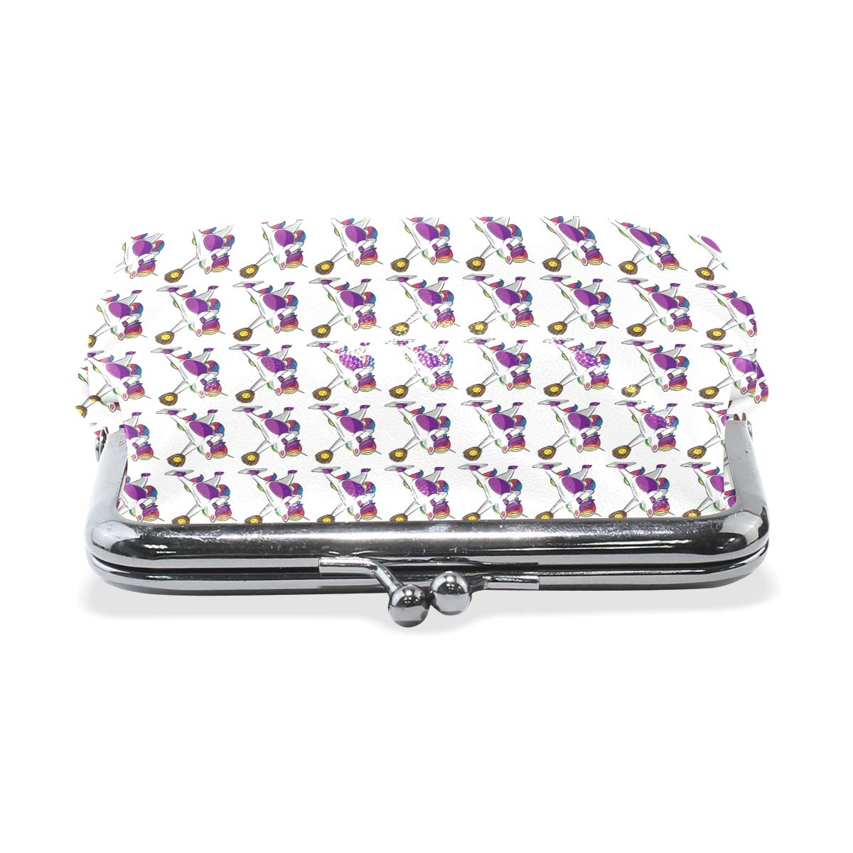 Exquisite Buckle Coin Purses Dabbing Unicorn Softball Funny Gift Mini Wallet Key Card Holder Purse for Women