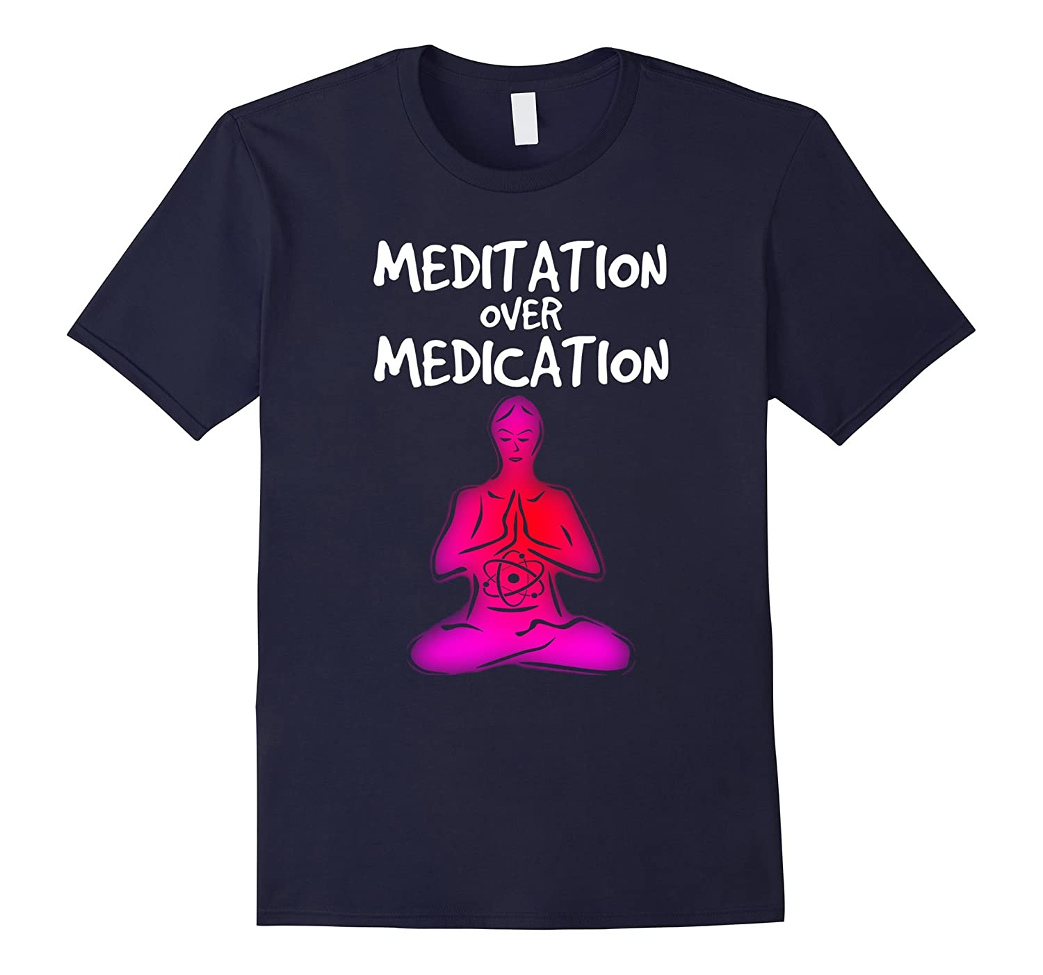 Meditation over Medication T-Shirt, Natural Healing Zen Tee-FL