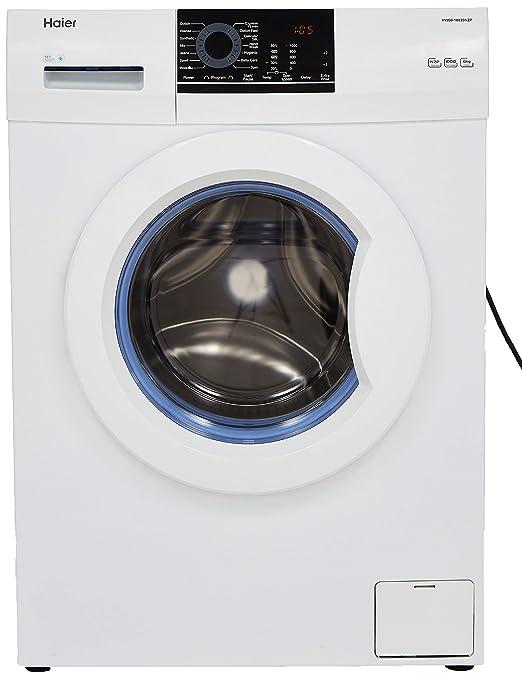 Haier 6 kg Fully Automatic Front Loading Washing Machine  HW60 10829NZP, White  Washing Machines   Dryers