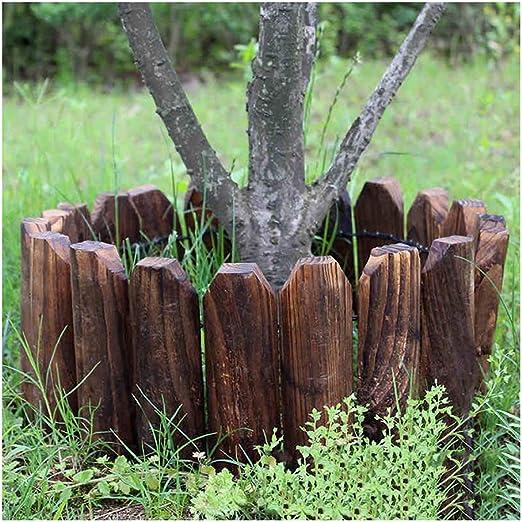 ZHANWEI Valla de jardín Estaca Redonda De Madera Bordura de jardín Decorativo Césped Cama De Flores, 4 Tamaños (Color : 3pcs, Size : 118x26cm): Amazon.es: Jardín