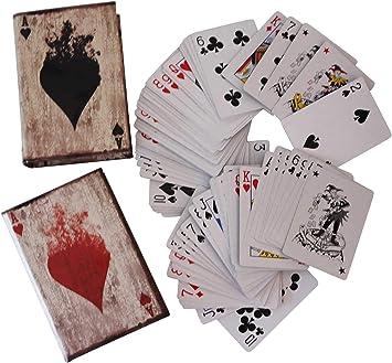 2X Cartas de póker de póquer Caja Juego Estilo Antiguo guasón ...
