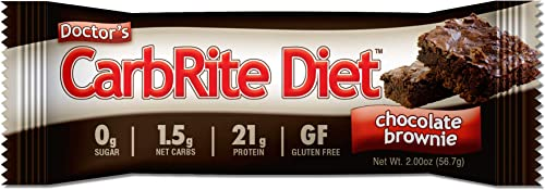 CarbRite Diet Bars Keto, Low Carb, Sugar Free, Gluten Free, Fats, Protein – Chocolate Brownie – 12 Bars