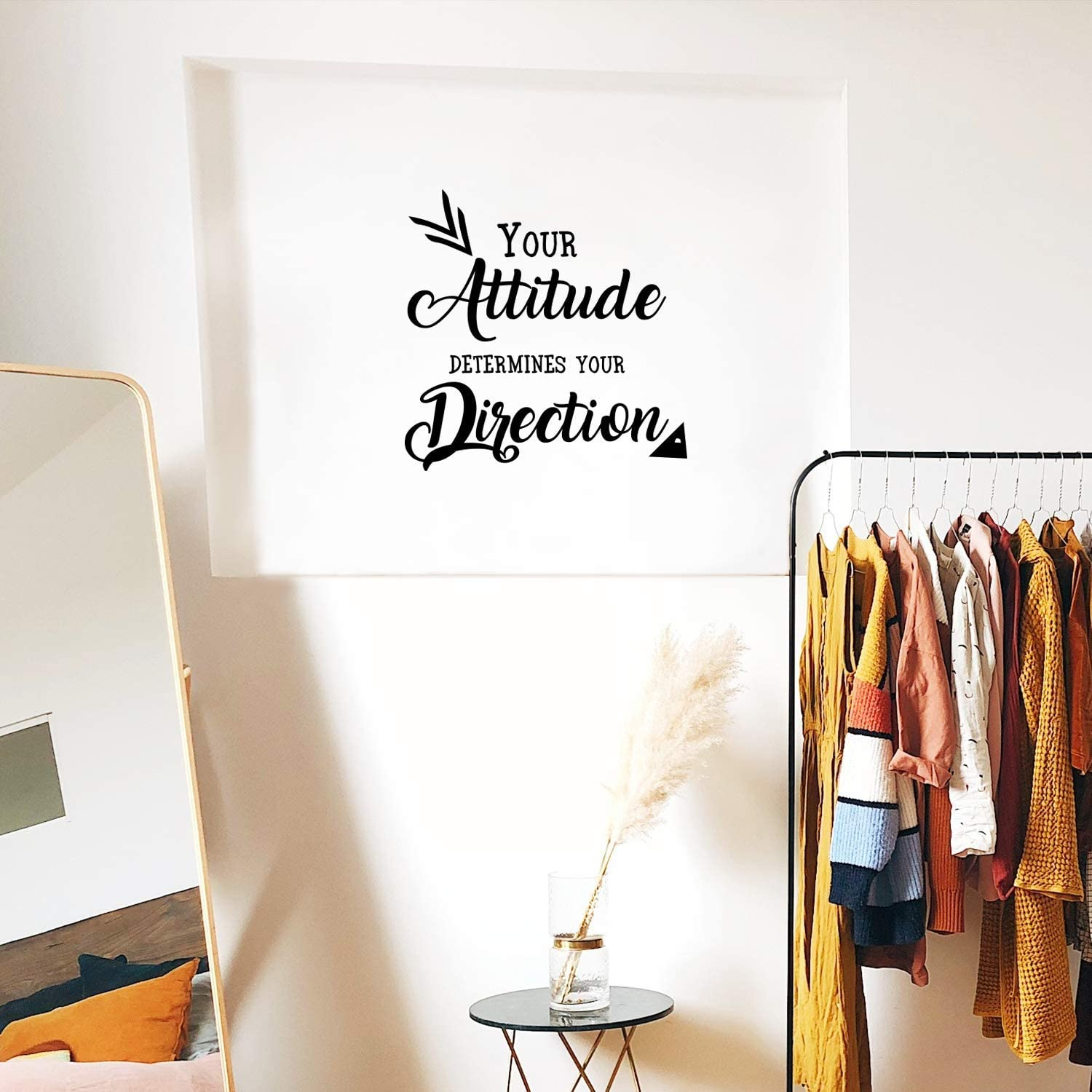 Amazon Com Your Attitude Determines Your Direction Inspirational Quote Wall Art Decal 23 X 23 Motivational Life Quotes Vinyl Decal Bedroom Wall Decoration Living Room Wall Art