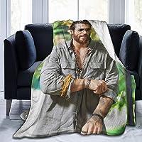 huatongxin Can Yaman Manta de tiros Four Seasons Accessory Warm Micro Fleece Manta for Air Conditioning,Decorative…