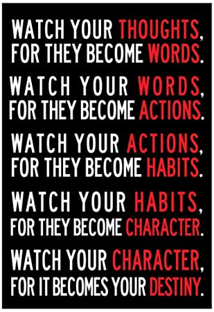 Amazon.com: Watch Your Thoughts Motivational Poster 13 x 19in ...