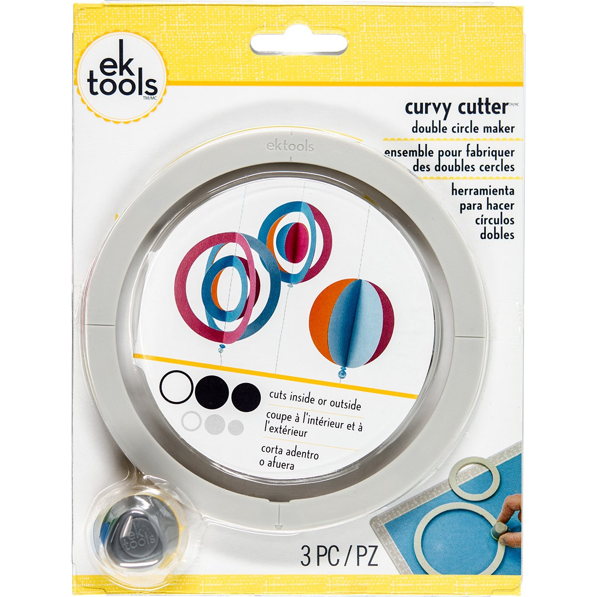 EK Tools 54-00078 Curvy Cutter Creador de doble círculo