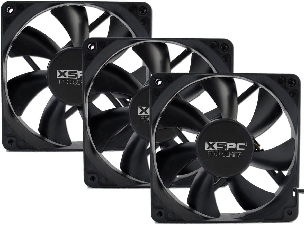 3-Pack 1650 RPM XSPC PRO Series 120mm Fan