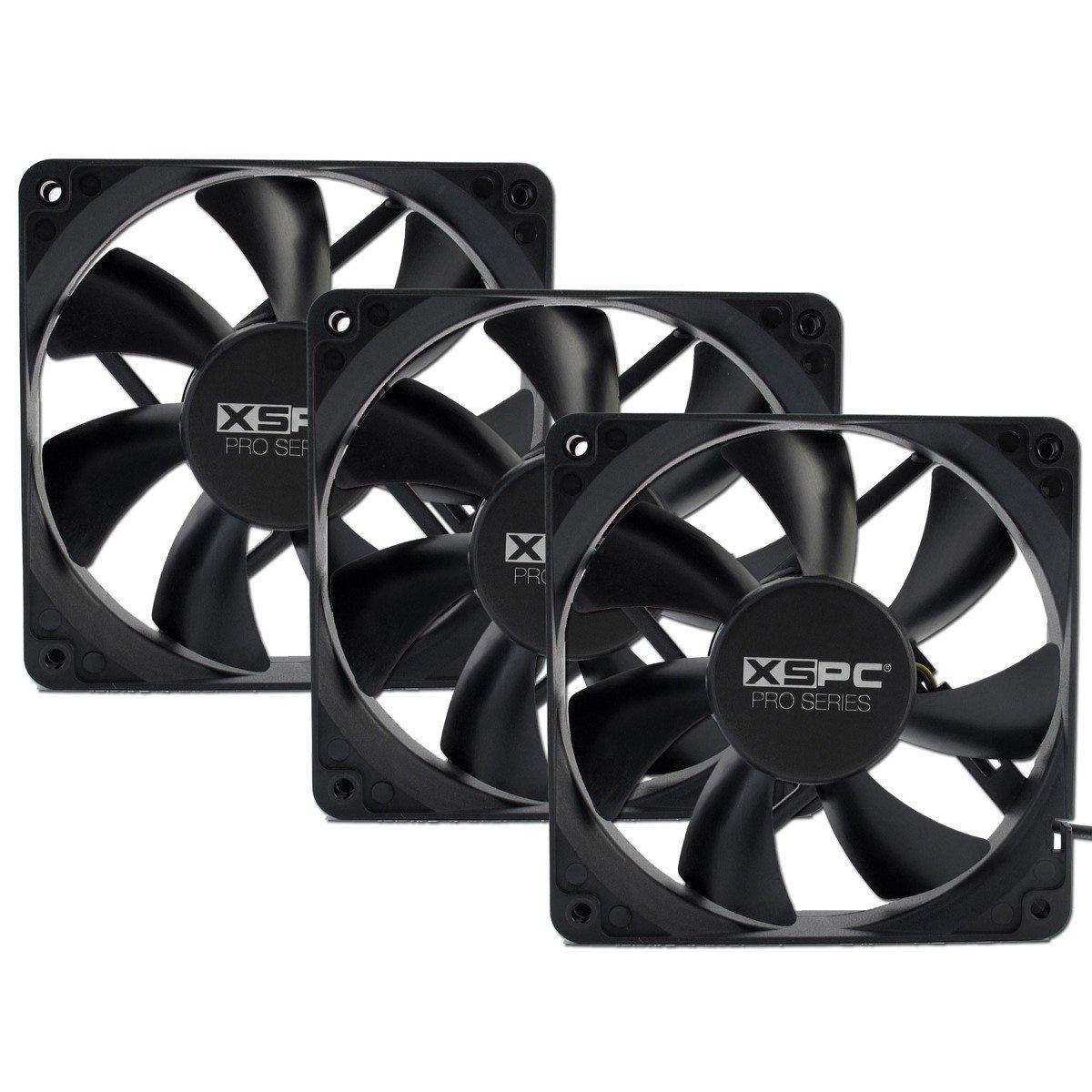 XSPC PRO Series 120mm Fan, 1650 RPM, 3-Pack