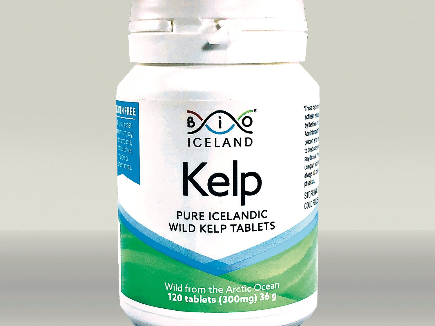 Wild Arctic Icelandic Whole Food Iodine from Organic Kelp. Thyroid Support Supplement. Supports a Healthy Metabolism, Energy and Immune Boost - 120 Vegan Tablets 300 MG