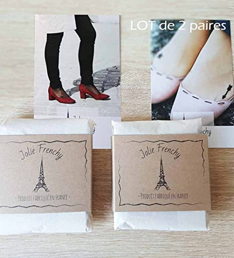 Jolie Frenchy - 2 Pares Calcetines - 20 DEN - para mujer carne ...