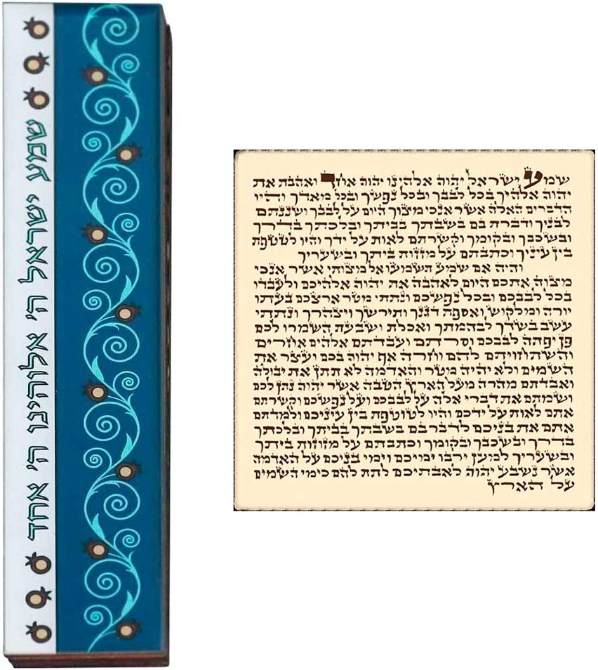 Talisman4u wasserdichte Mesusa H/ülle mit Scroll Shema Israel Judaica Lucite T/ür Mezuza Abdeckung 12 cm