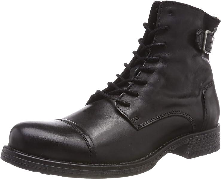6a76527f72be15 JACK   JONES Herren JFWSITI Leather Anthracite Klassische Stiefel ...