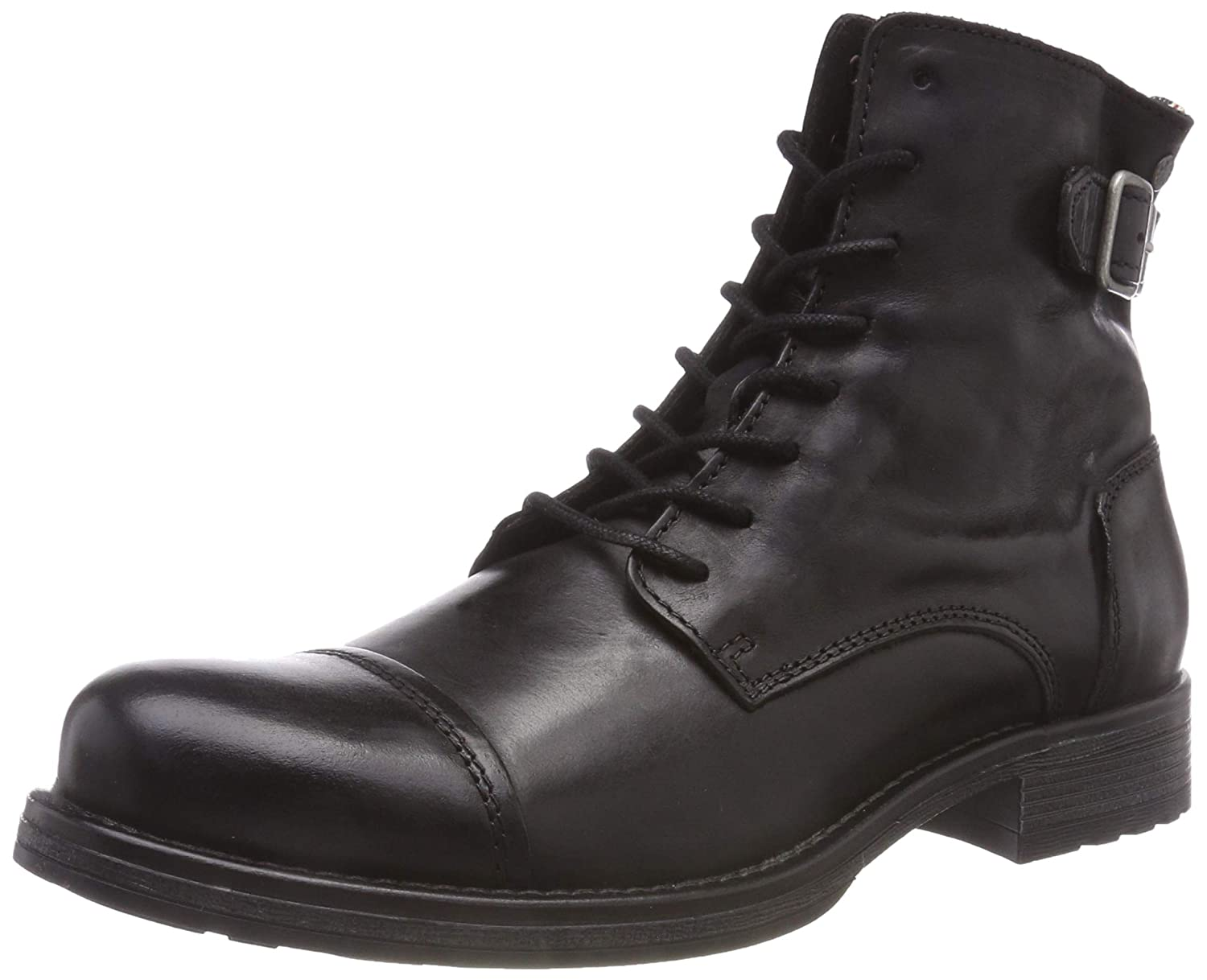 TALLA 40 EU. Jack & Jones Jfwsiti Leather Anthracite, Botas Clasicas para Hombre