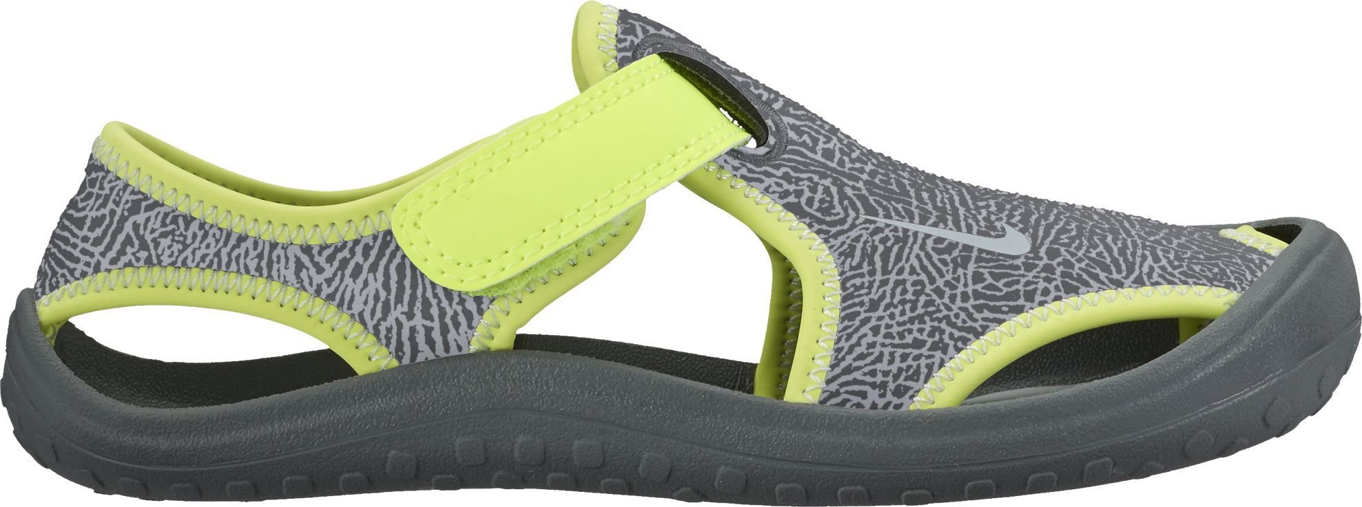 NIKE Sunray Protect (PS) Little Kid's Shoes Dark Grey/Wolf Grey/Volt 903631-002 (13 M US)