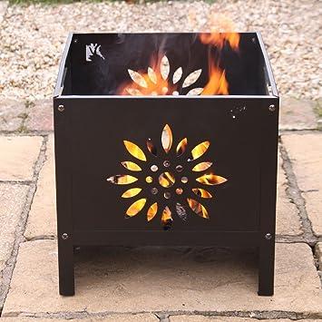 Tamaño mediano estufa de jardín con diseño de flores - calentar su Patio en un veranos noche: Amazon.es: Jardín