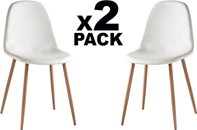 Adec - Craft, Pack de 2 sillas de Comedor, Silla Salon o Cocina ...