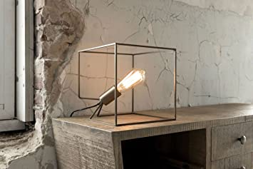 MSZ Design Tischleuchte Cube 1-flammig in Bronze-Optik ...