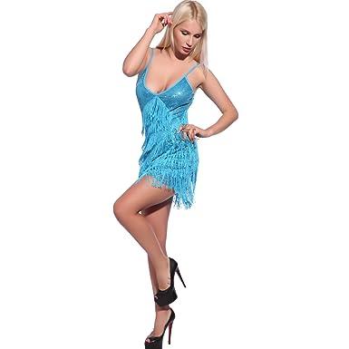 1920er Jahre Damen Sequin Fransen Flapper Kleid Tanzkleid Partykleid ...