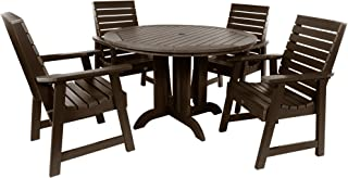 product image for highwood AD-DNW48-ACE Weatherly 5-Piece Round Dining Set, Height, Weathered Acorn