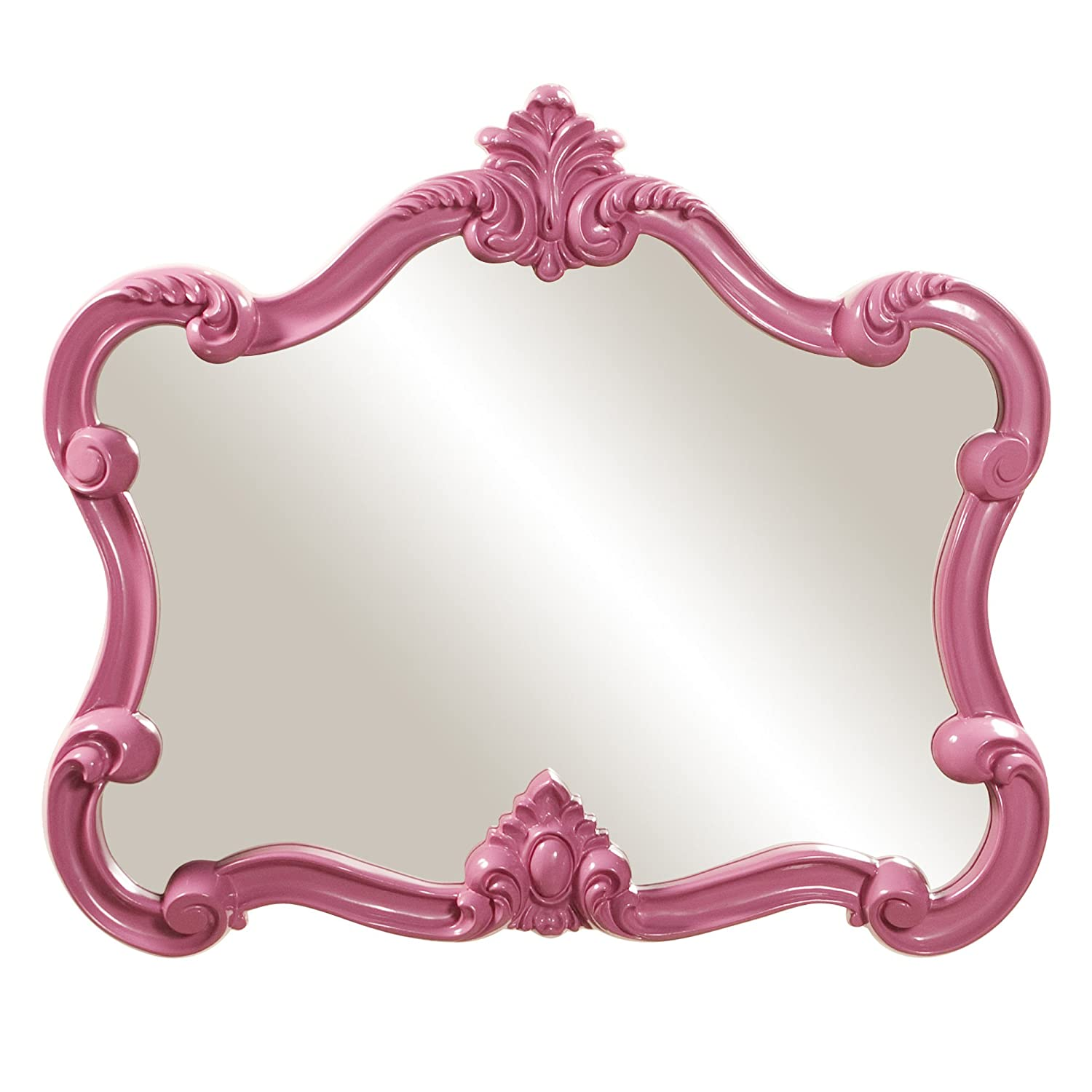 Amazon howard elliott 56030 veruca rectangular mirror 28 x amazon howard elliott 56030 veruca rectangular mirror 28 x 32 inch glossy hot pink home kitchen amipublicfo Gallery