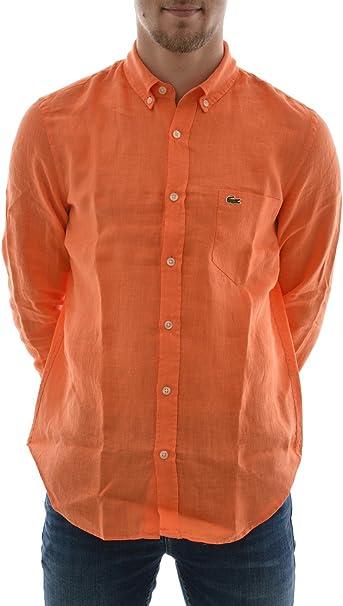 Lacoste Camisa ch6297 Naranja Naranja 42: Amazon.es: Ropa y ...