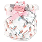 Cribmates Soft Plush Baby Blanket and Blankie Pal, Pink