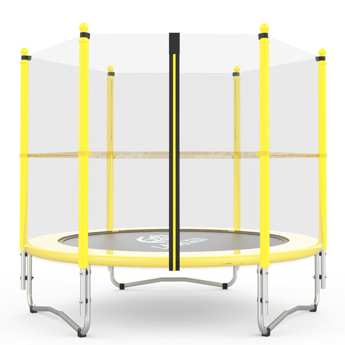 Langxun 5Feet Outdoor & Indoor Trampoline with Enclosure net and Safety Jumping Mat Cover | Birthday Gifts for Kids, Christmas Gifts for Boy and Girl ( Yellow, 60inch ) ) by Langxun