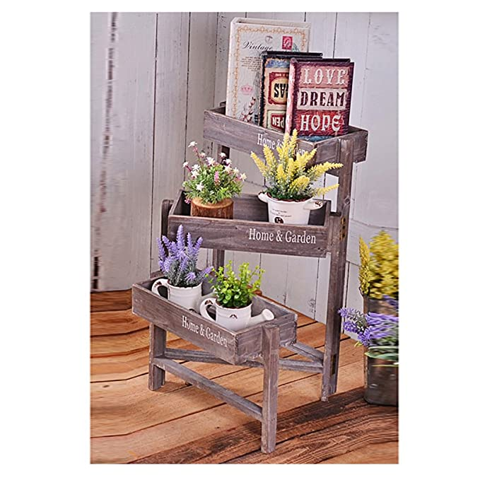 Amazon.com: White floor racks American flower stand florist ...
