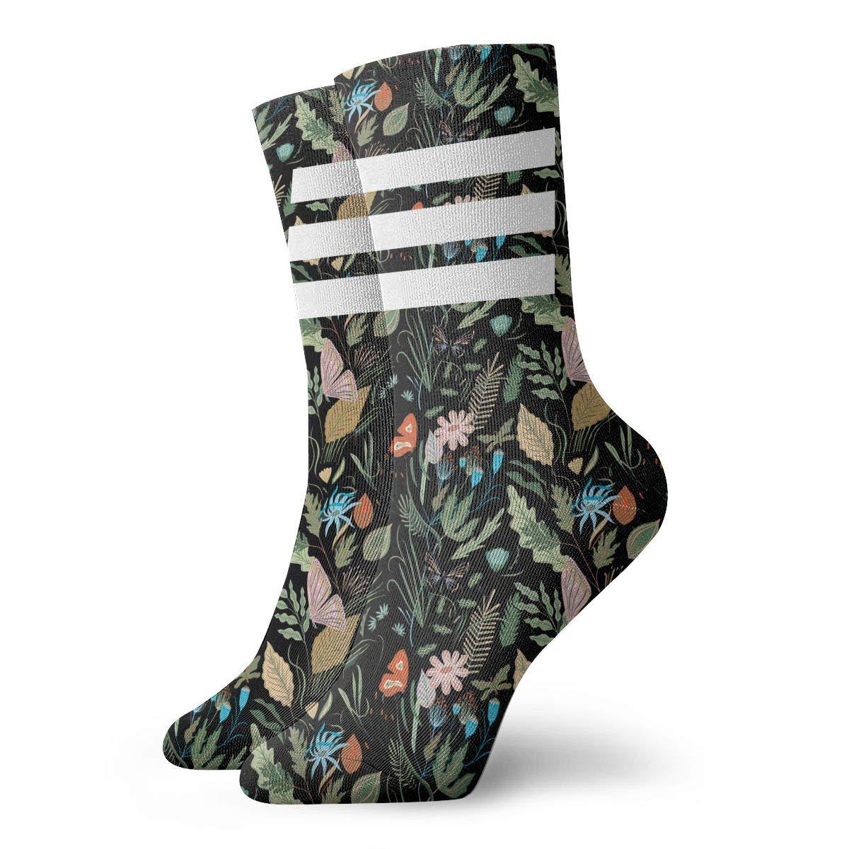 FLOWERS Unisex Funny Casual Crew Socks Athletic Socks For Boys Girls Kids Teenagers