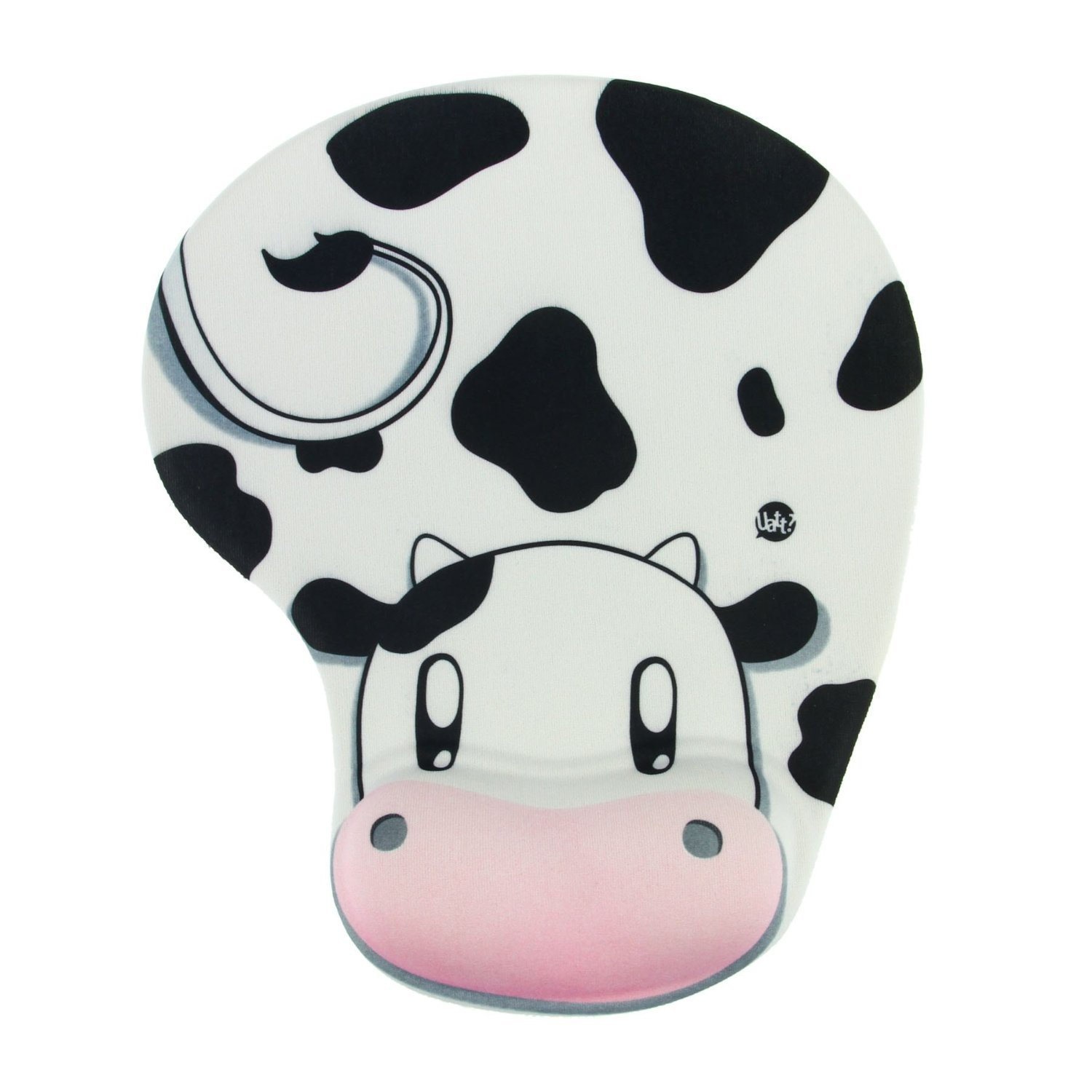 Onwon High Quality Cartoon Wrist protected Personalized Computer Decoration Gel Wrist Rest Mouse Pad Ergonomic Design Memory Foam Mouse Pad Gel Mouse Pad/Wrist Rest(Cow Style)