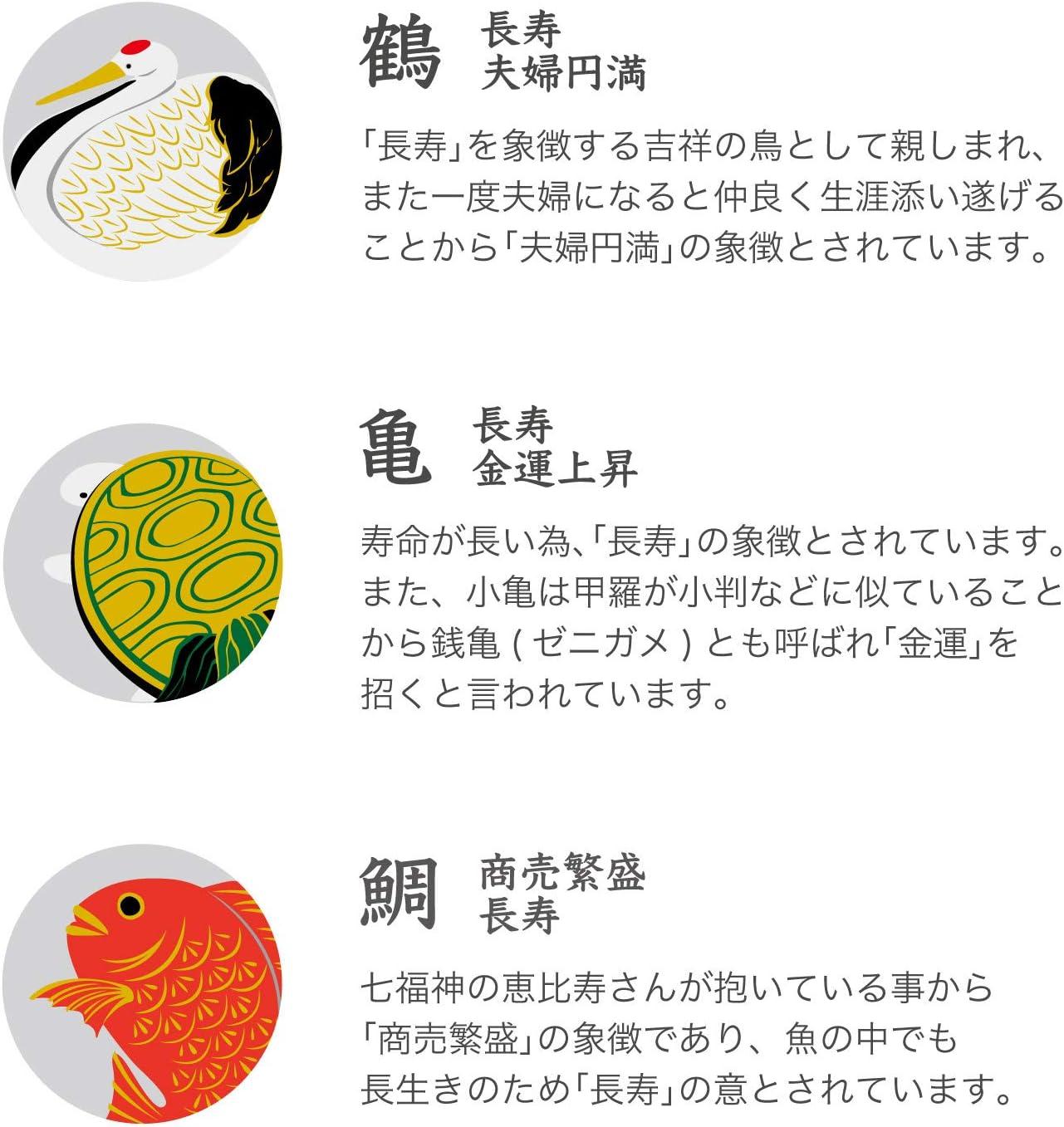 ADERIA(アデリア)「めでたmono 福寿 豆皿鶴亀鯛セット」