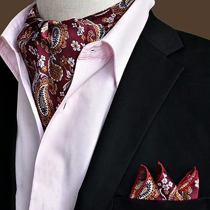 Amazon.com: Liangjun corbata corbata de seda hombres pañuelo ...