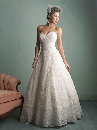 Tailored Wedding Dress Any Size Color Strapless Sweetheart A Line DressPlus