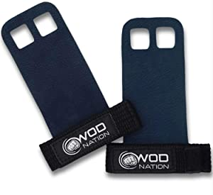 WOD Nation Barbell Gymnastics Grips Perfect for Pull-up Training, Kettlebells, Gymnastic Rings