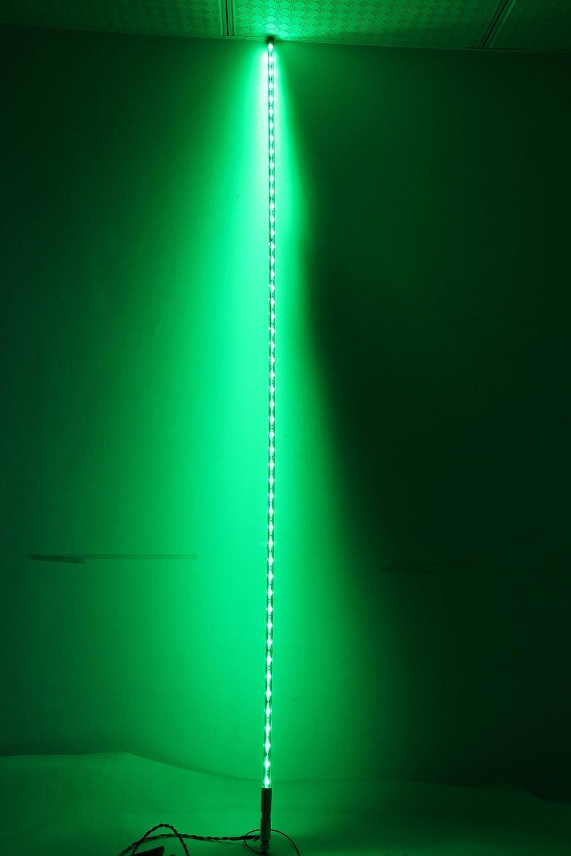 Saming LED Lighted Whip atv utv off road sand dunes Flexible atv utv Antenna With Flag (5 FT, White)
