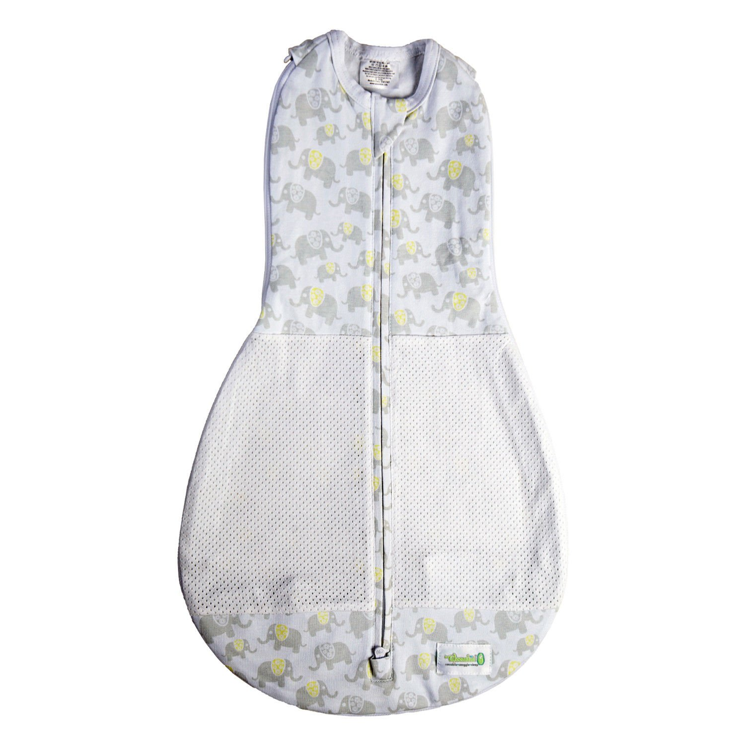 new concept dcd8e 7ba38 Woombie Grow with Me Air Swaddle and Sleep Sack, Elephants ...