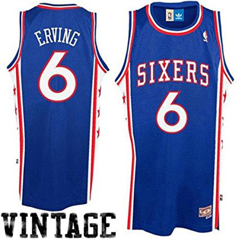 new products 812de 7fe81 Julius Erving #6 Philadelphia 76ers Adidas Hardwood Classics Youth Jersey