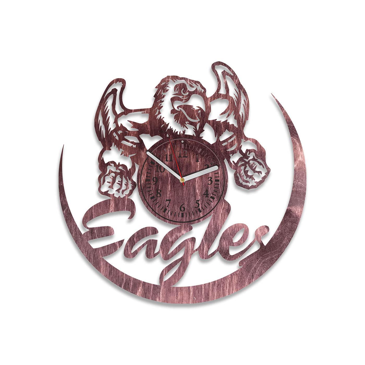 size 40 32f73 73a55 Amazon.com: NadezhdaShop Eagles Clock Large Sport Art ...