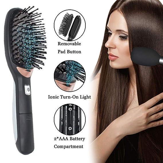 Ionic Cepillo de pelo para desenredar, antiestático, curvado, ventilado, cepillo para desenredar el pelo, peinetas para mujeres con cepillo de ventilación ...