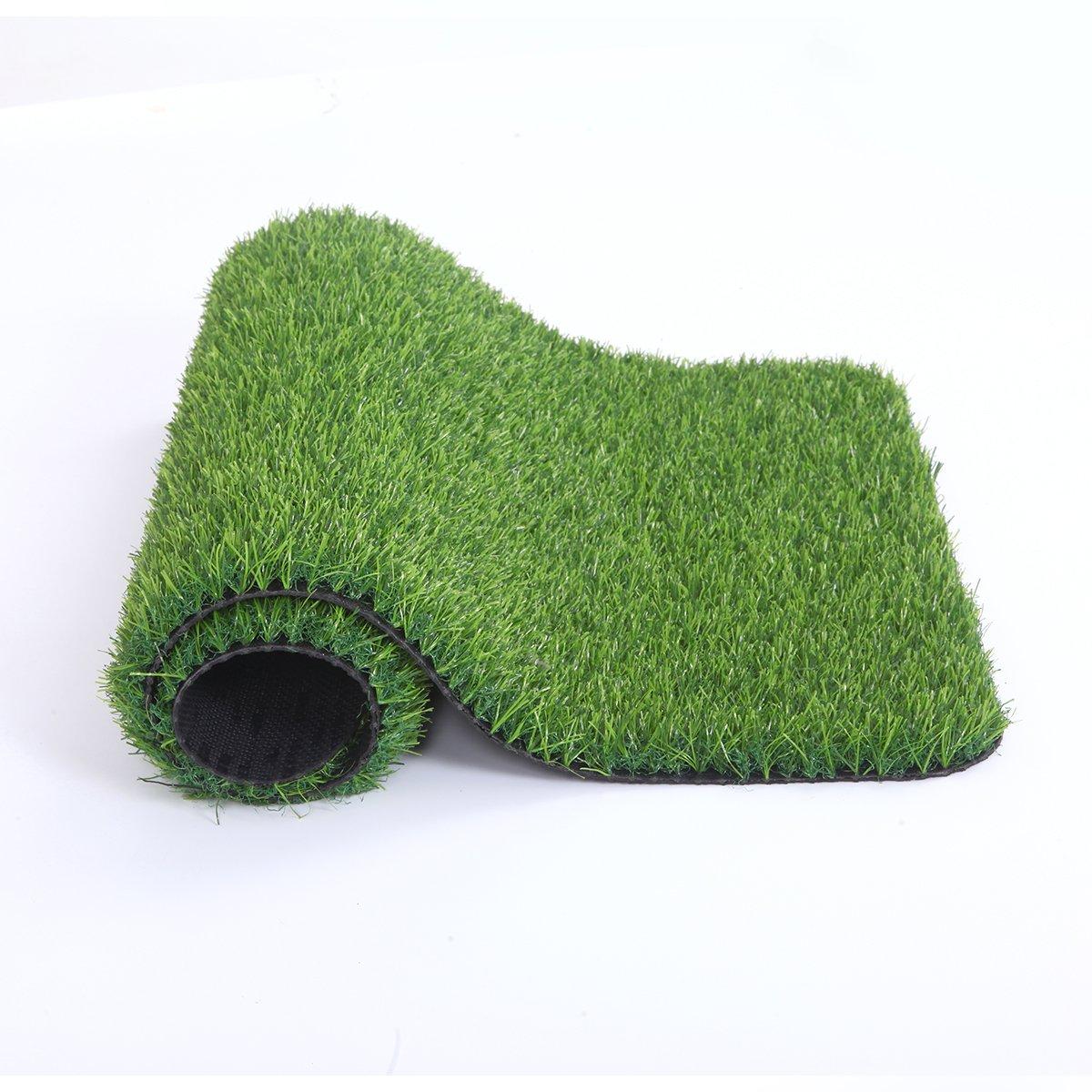 MAYSHINE Artificial Grass Door Mat Indoor/Outdoor rug Green Turf Perfect For Multi-Purpose Home Entryway Scraper Doormat dog Mats 20x28 inch
