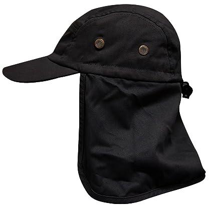 Unisex UPF 50+ UV Protective Outdoor Safari Hat Fishing Hiking Neck Flap Hat b01b58b49e2e
