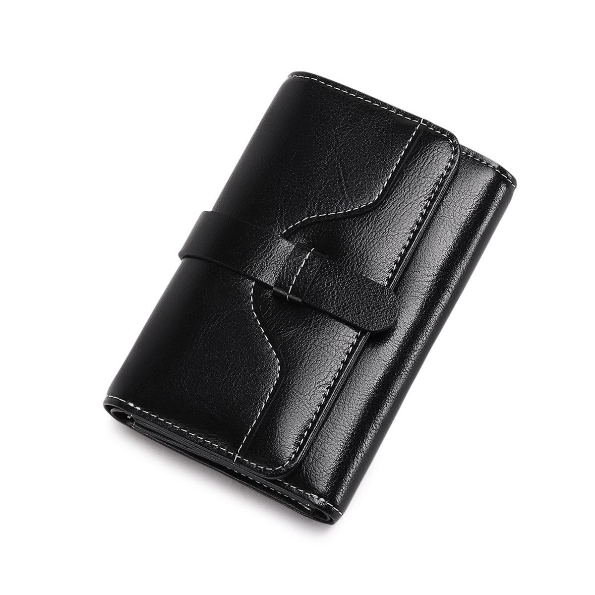 Vintage Leather Women short Wallet Coin Pocket Phone Purse Female Card Holder by Sendefn (Image #3)