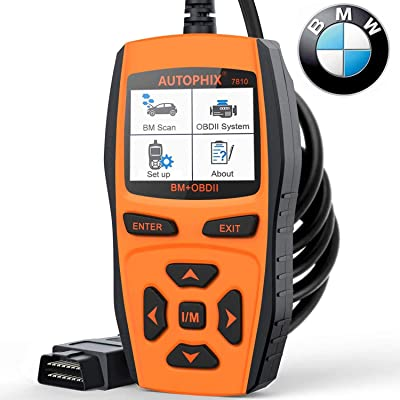 AUTOPHIX 7810 BMW Full-Systems Scanner OBD2 Code Reader Diagnostic Scan Tool with Engine/EPB/SAS/EGS/DME/DDE/CBS/ECU/F Chassis Reset BMW Battery Registration Tool: Automotive