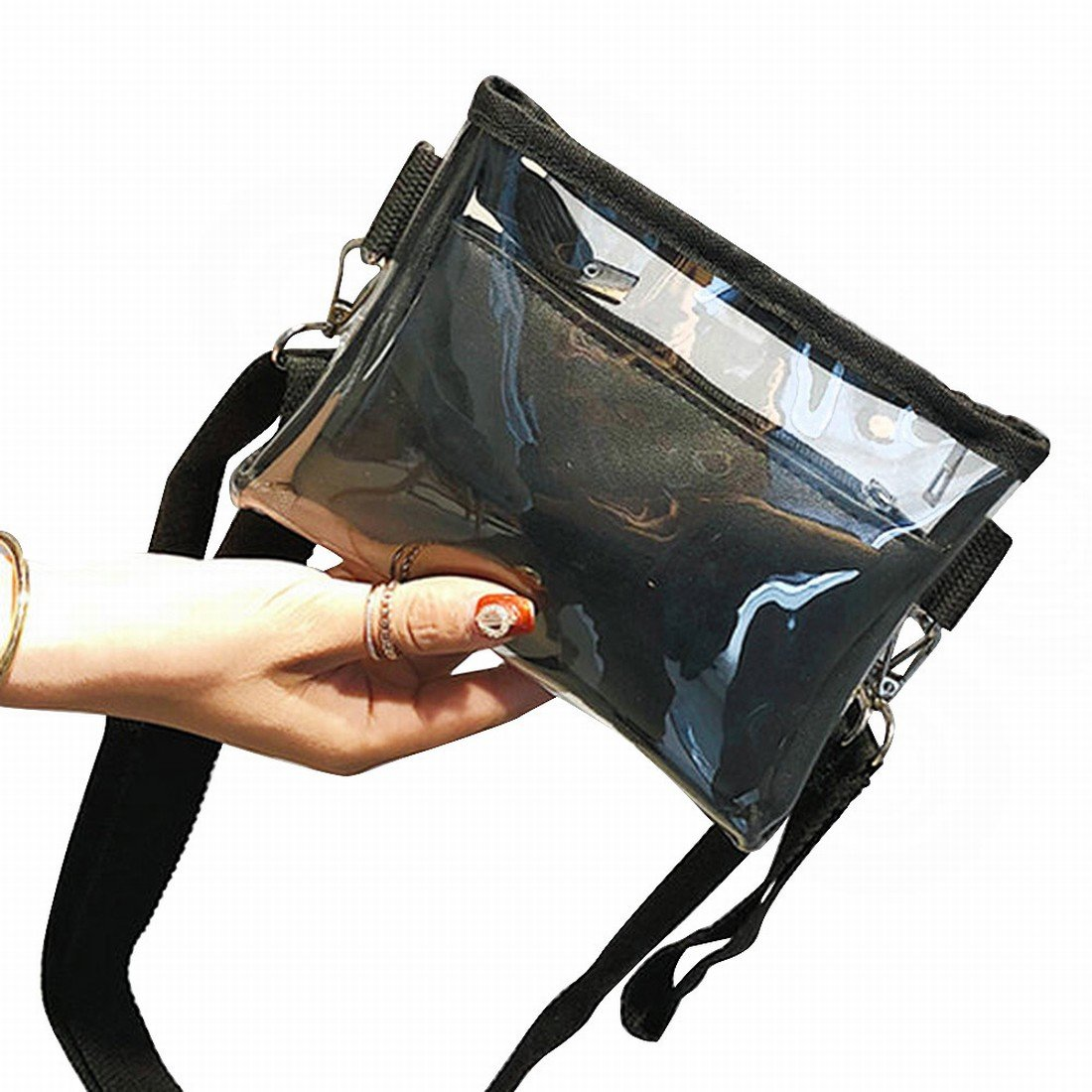 Amazon.com: Transparente Moda para niña Crossbody Bolsa ...