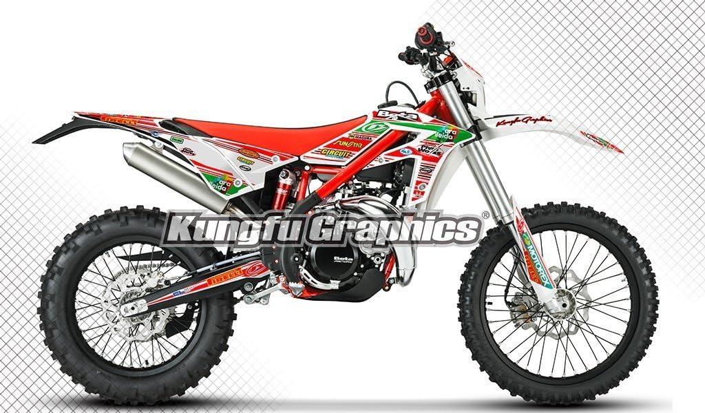Red Green White BTXT1619001-KO Kungfu Graphics Custom Decal Kit for Beta 250 300 Xtrainer 2016 2017 2018 2019 2020